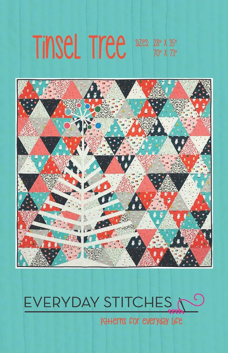 Tinsel Tree Quilt Pattern by Everday Stitches