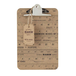 Stacy West Small Wood Ruler Clipboard