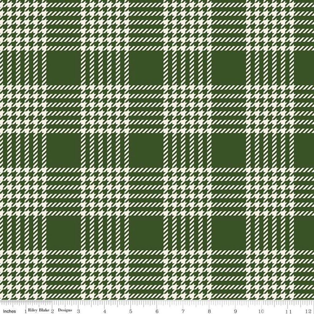 Flannel Yuletide Green Plaid Yardage (F9973 GREEN)