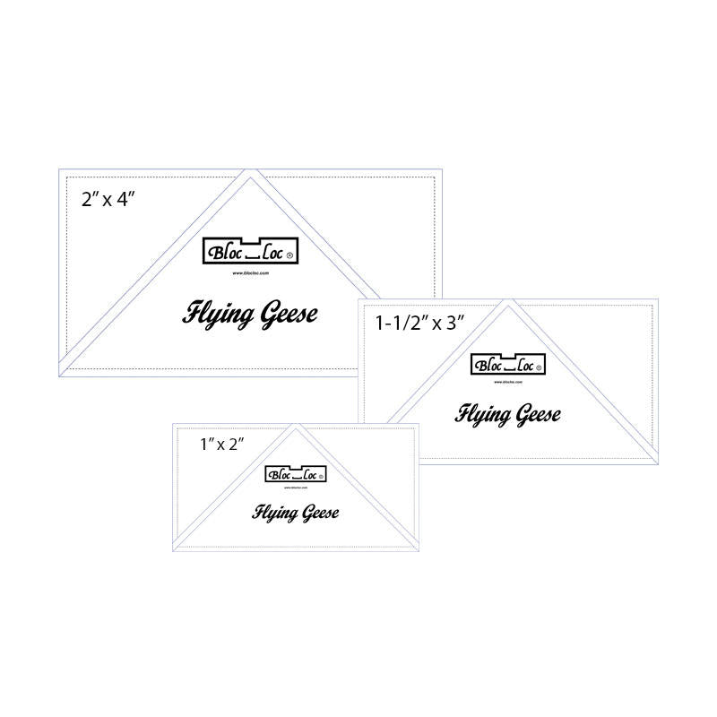 Flying Geese Ruler Set 6 includes: 1x2