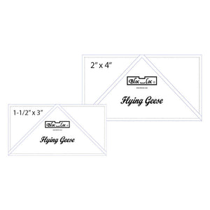 "Flying Geese Ruler Set 2 includes: 1-1/2""x3"", 2""x4"""