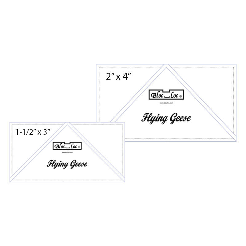 Flying Geese Ruler Set 2 includes: 1-1/2