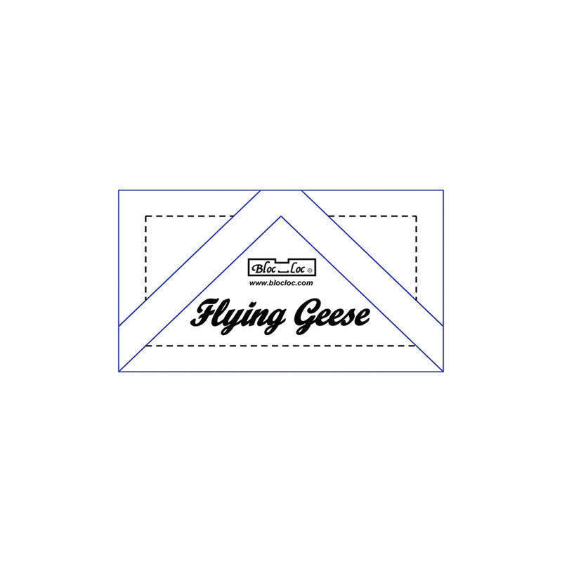 "Bloc Loc - Flying Geese Ruler 1 1/2"" x 3"""
