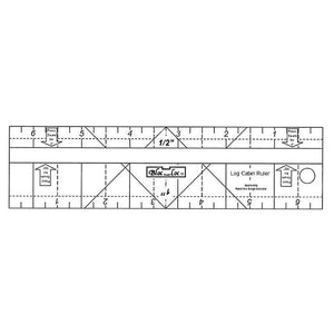 "Bloc-Loc - Log Cabin Ruler 1/4"" & 3/8"""