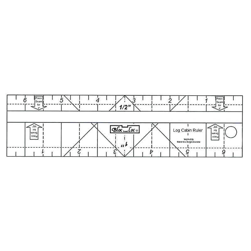 "Bloc-Loc - Log Cabin Ruler 2"" & 3"""