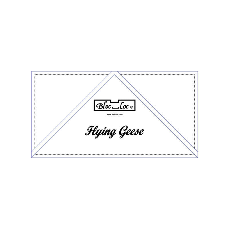 "Bloc Loc - Flying Geese Ruler  3"" x 6"""