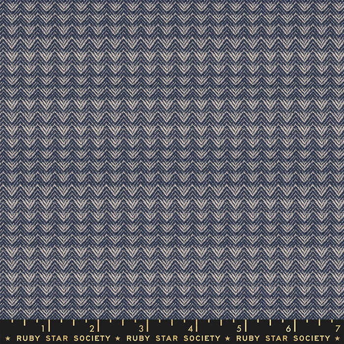 Warp Weft Wovens Navy Mountains Yardage RS4007 11