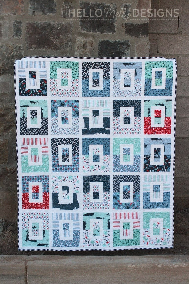 Wishy Washy Quilt Pattern  by Hello Melly Designs (P151 WISHYWASHY) - Instructions for three sizes, great for precuts!