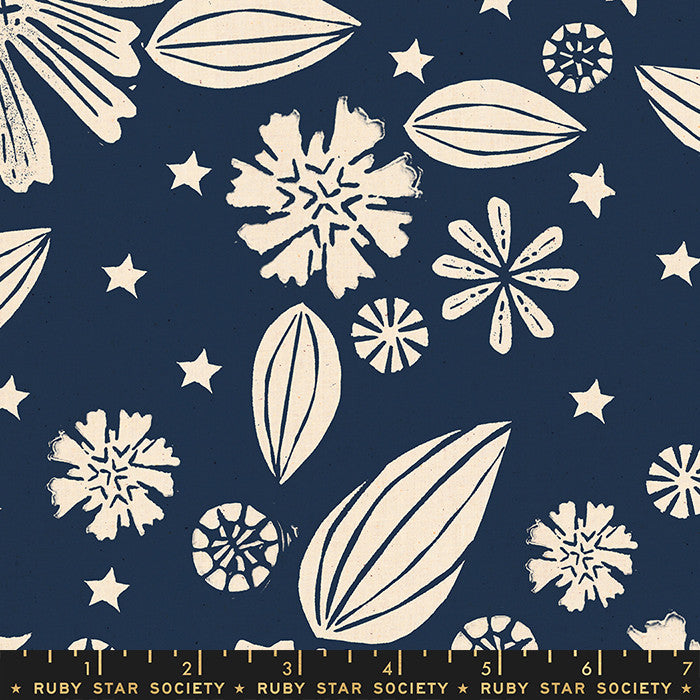 Golden Hour Navy Flower (RS4016 12)