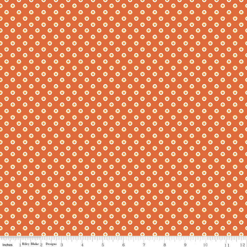 Flea Market Autumn Polka Dot Yardage (C10215 AUTUMN)