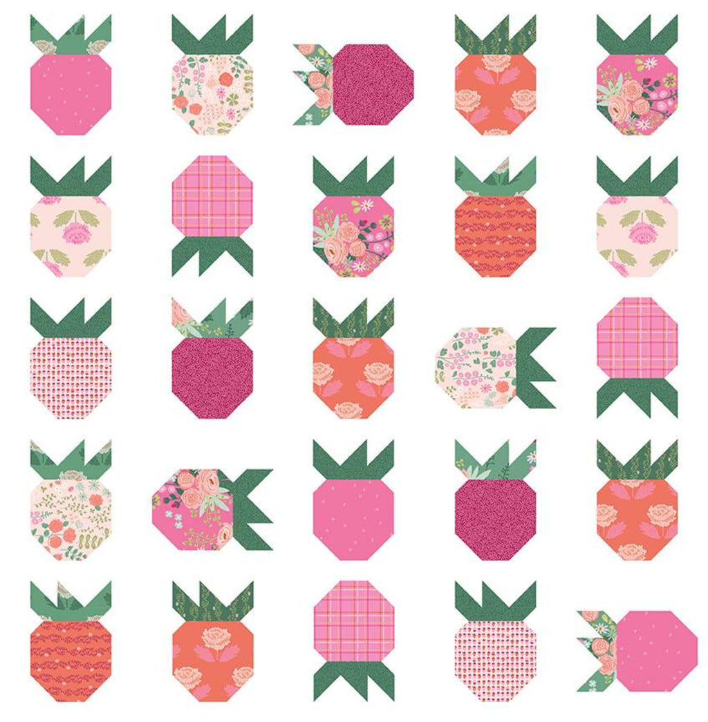 Strawberry Field Quilt Pattern by Citrus and Mint