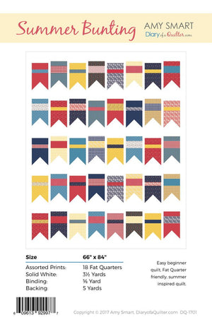 Summer Bunting Quilt Pattern by Amy Smart (Diary of a Quilter)