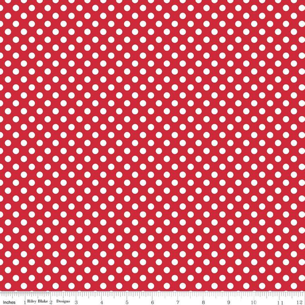 Red Small Dots Yardage by Riley Blake Designs | SKU #C350-80