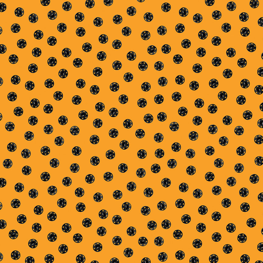 Old Made Orange Snap Dots Yardage | SKU #C10596 ORANGE