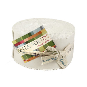 White Bella Solid Jelly Roll (9900JR 98)