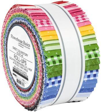 "Flowerhouse Basics Sweet Colorstory Jelly Roll | 40 pieces 2.5"" x 44"""