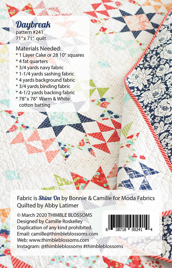 Daybreak Quilt Pattern by Thimble Blossoms