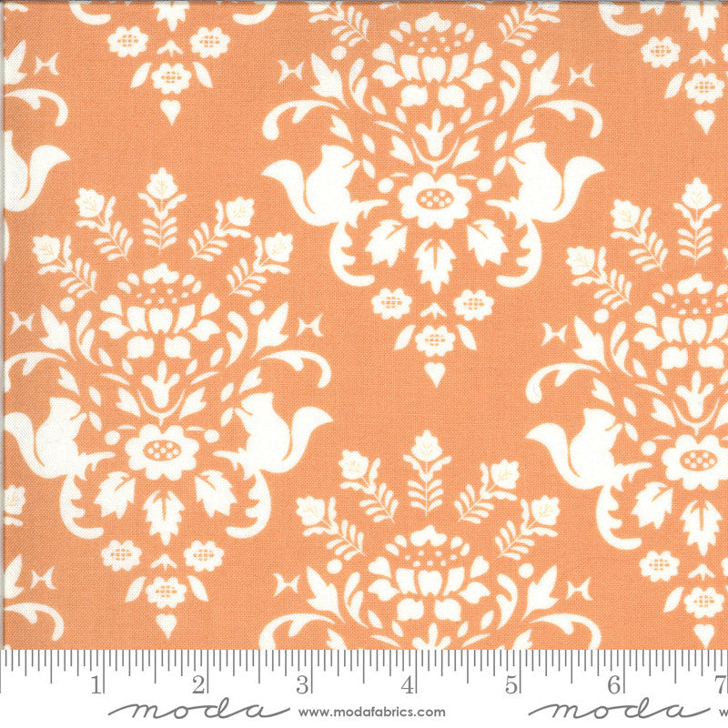 Squirrelly Girl Apricot Squirrel Toile Yardage (2971 11)