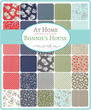 At Home Linen Blossoms Yardage by Bonnie & Camille for Moda Fabrics (55203 14)