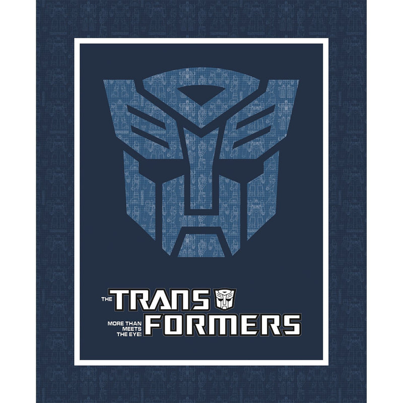 Transformers Autobot Shield Panel by Camelot Fabrics (95020015P-01)