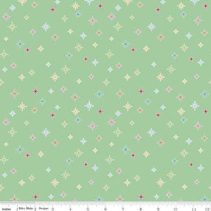 Cozy Christmas Cozy Sparkle by Lori Holt for Riley Blake Designs (C5365-Mint) - Stitches n Giggles