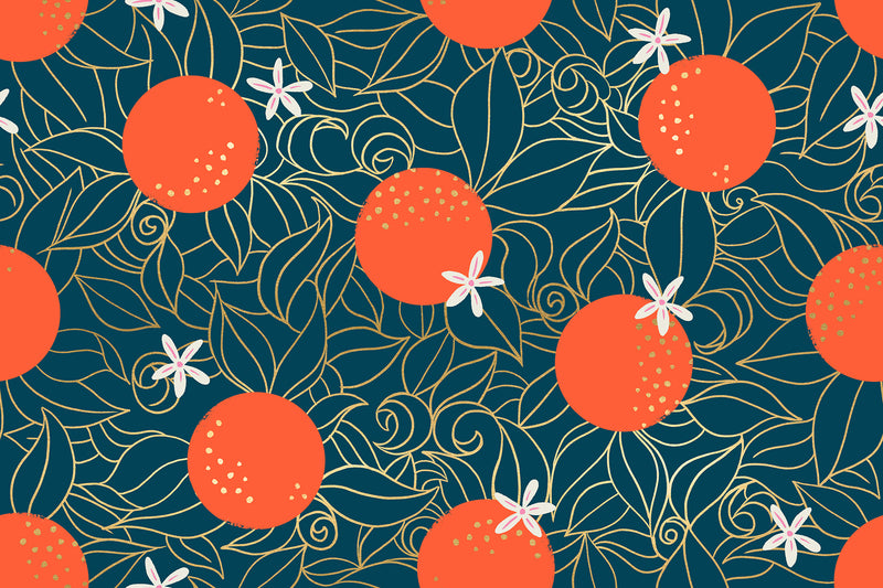 Florida Peacock Orange Blossoms Yardage (RS2025 14M) Ruby Star Society - Cut Options
