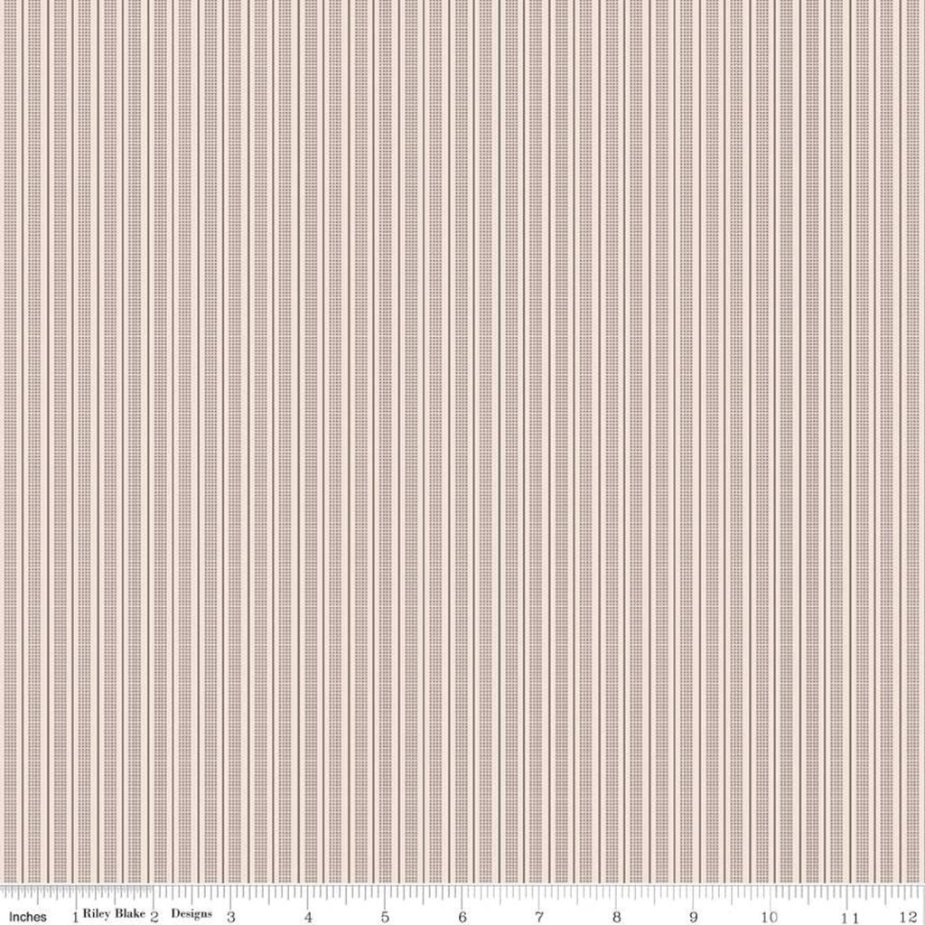 Prim Pewter Ticking Stripe Yardage (C9707 PEWTER)