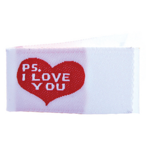 PS I Love You Woven Quilt Tags  - 12 Per Bag