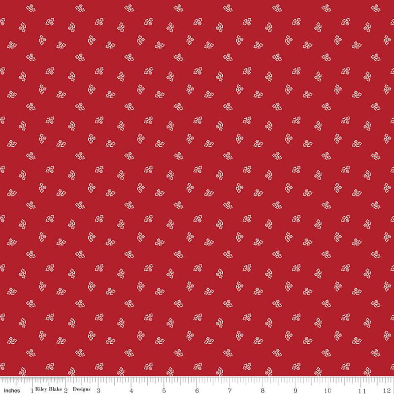 Prim Barn Red Blossom Yardage (C9691 BARNRED)