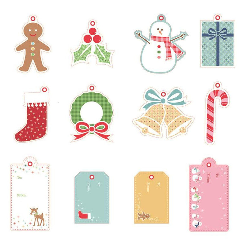 Lori Holt Christmas Gift Tags - 24 Gift Tags, 2 of each design (STS-14835)
