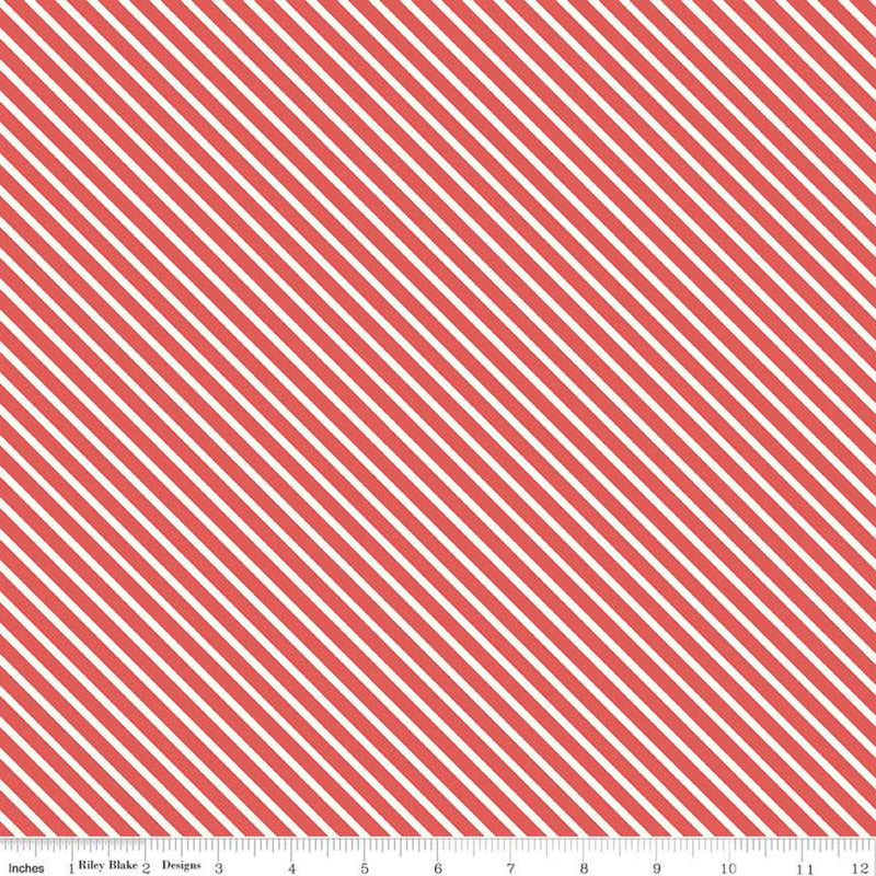Love Letters Red Stripe Yardage (C8864 RED)
