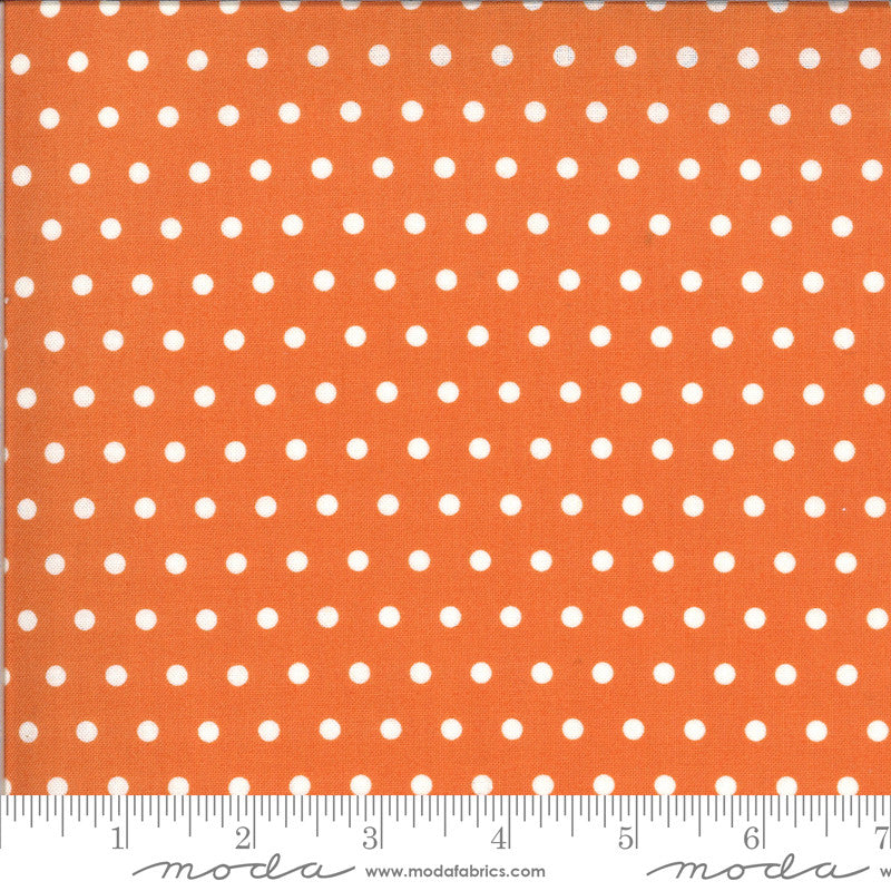 Squirrelly Girl Pumpkin Pie Dots Yardage (2976 19)