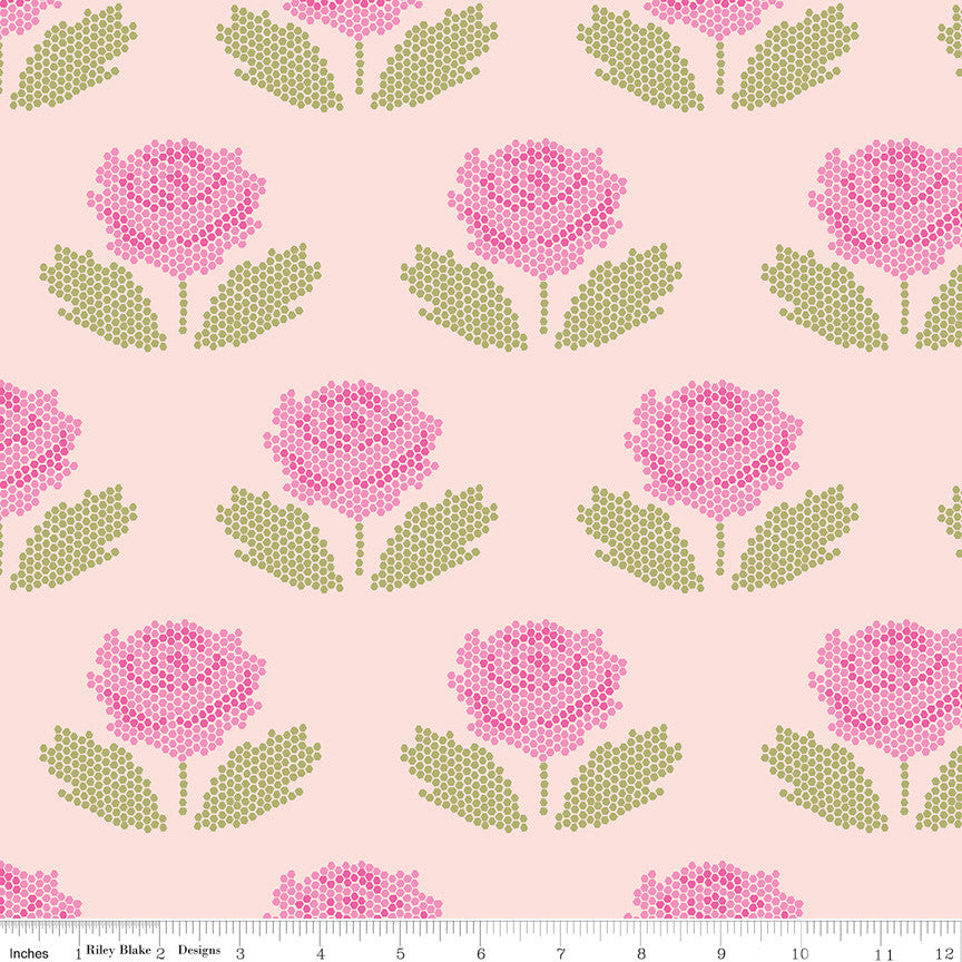 New Dawn Blush Stitch Yardage (C9852 BLUSH)