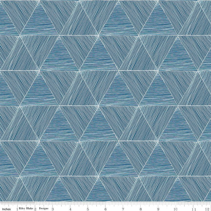 Rocky Mountain Wild Blue Wild Peaks (C10294-BLUE) - Stitches n Giggles