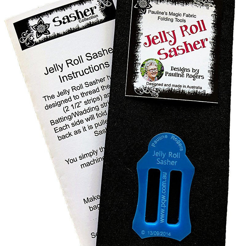 Jelly Roll Sasher -  Designs by Pauline Rogers - Perfect for Jelly Roll Rugs!
