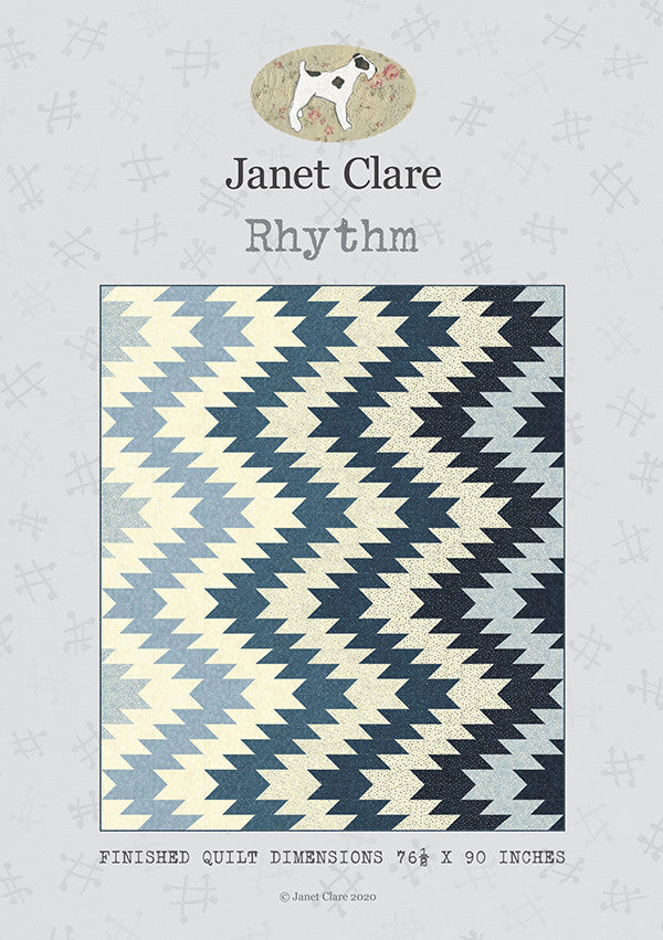 Rhythm Quilt Pattern by Janet Clare - Modern Quilt Pattern