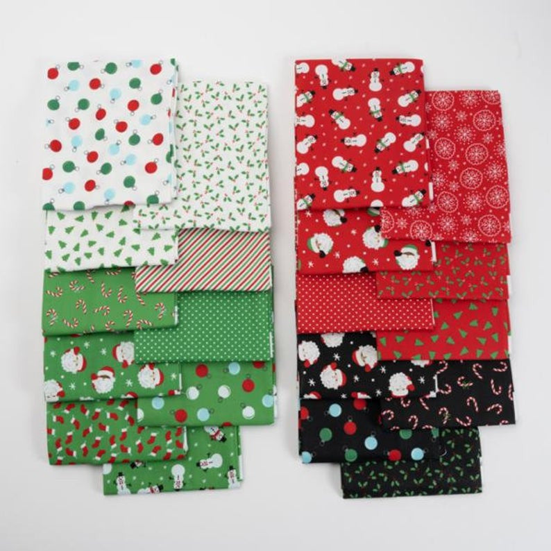 Holiday Christmas Fat Quarter Bundle by Stacy Lest Hsu | 20 SKUS
