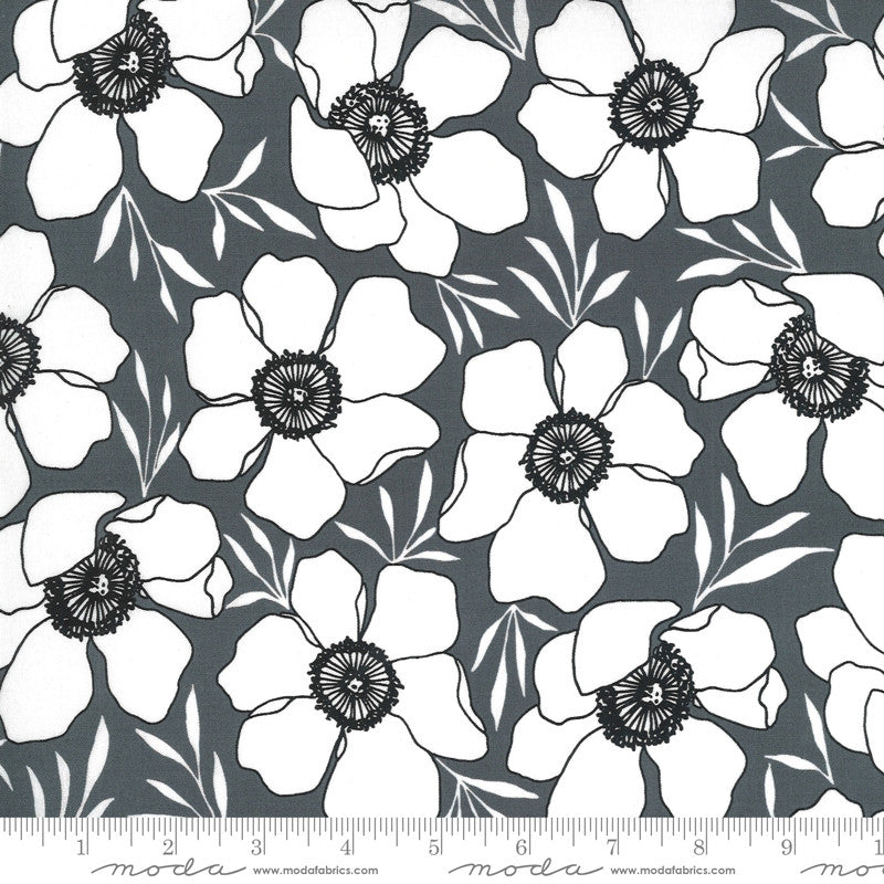 Illustrations Graphite Moody Florals Yardage | SKU #11502-14
