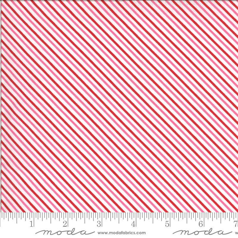 Be Mine Love Dove Candy Stripe Yardage (20716 11) - Stitches n Giggles
