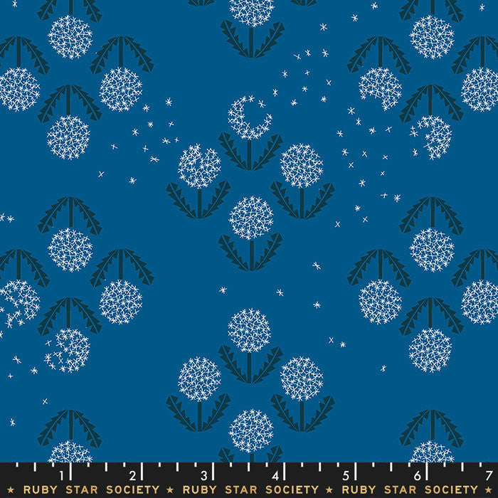 Darlings Blue Raspberry Puff Yardage by Ruby Star Society (RS5014 17)