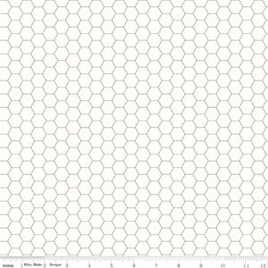 Bee Backgrounds Gray Honeycomb Yardage (C6387 GRAY)