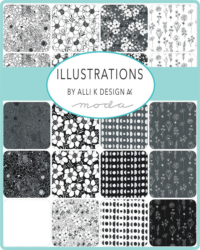Illustrations Ink Modern Florals Yardage | SKU #11501-15