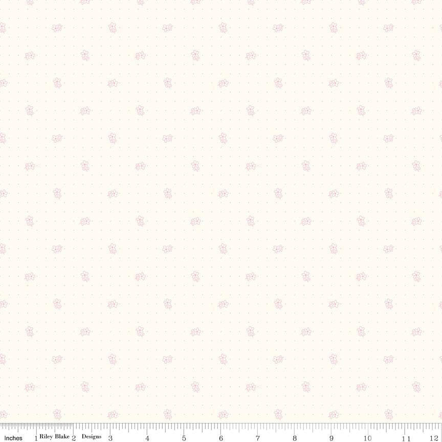 Bee Backgrounds Pink Daisy By Lori Holt (C6380-Pink) Cut Options Available