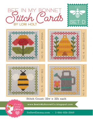Bee in my Bonnet Stitch Card D by Lori Holt