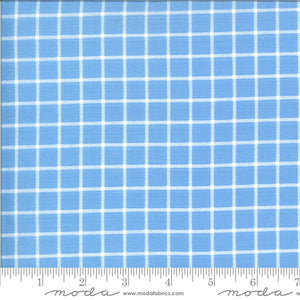 On The Farm Blue Country Checker Yardage (20707 20)