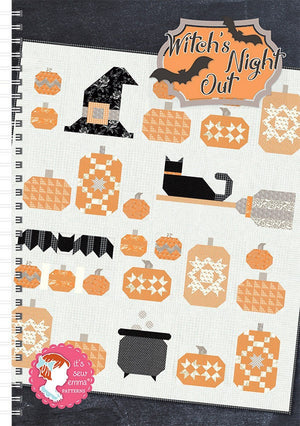Witch's Night Out Quilt Pattern by It's Sew Emma (ISE 929)