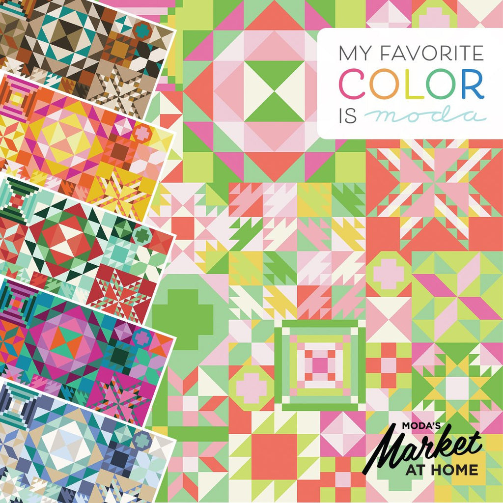 My Favorite Color Is Moda Quilt Kit - Cookie Tin Colorway