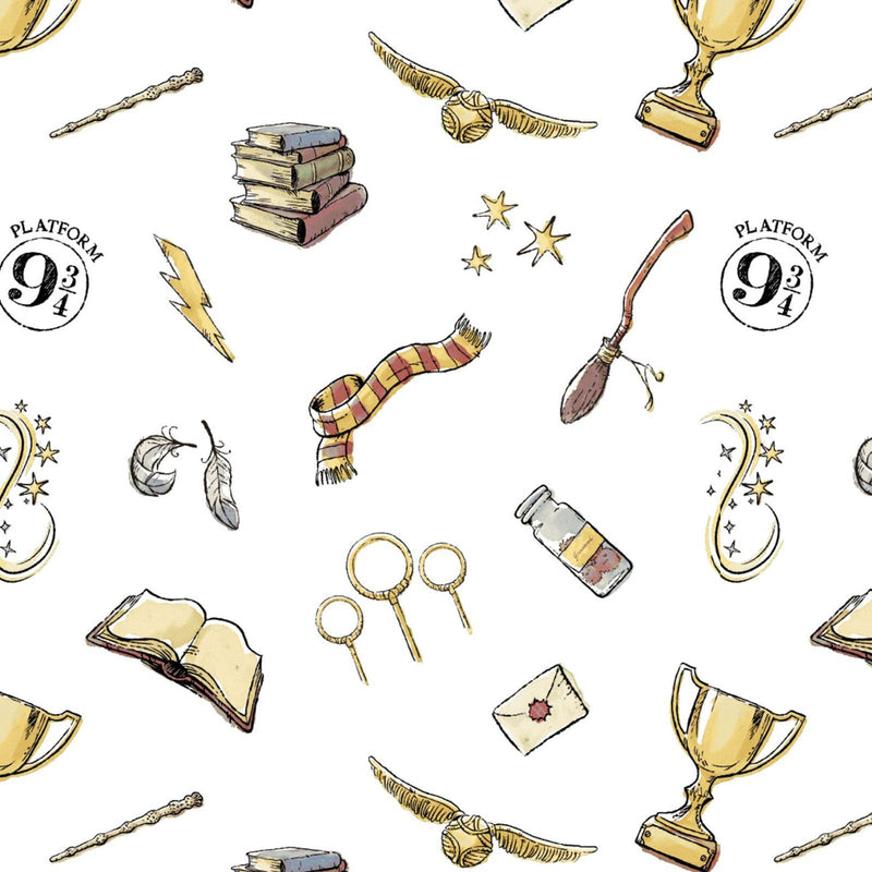 Wizarding World of Harry Potter Soft White Wash Magic Yardage (23800603) Harry Potter Fabric