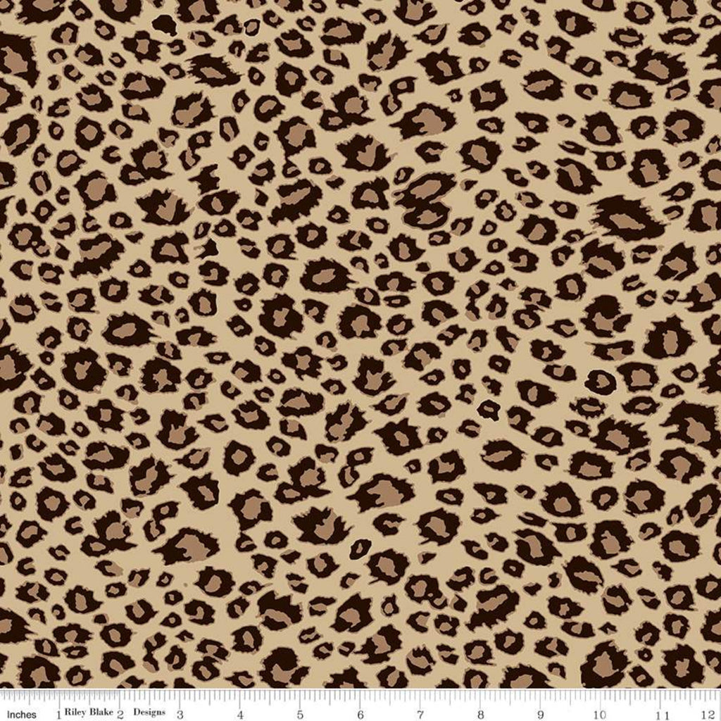 On Safari Brown Leopard Spots Yardage (C10457 BROWN)