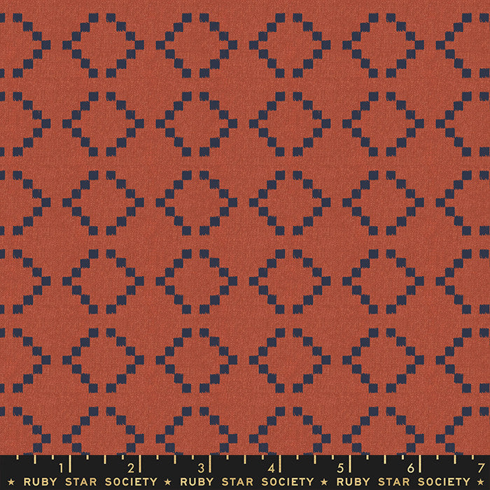 Warp Weft Woven Persimmon Parade Yardage RS4010 12